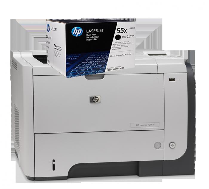 Hộp mực in HP 55A (CE255A) sử dụng cho dòng máy : HP 3015/3010.1