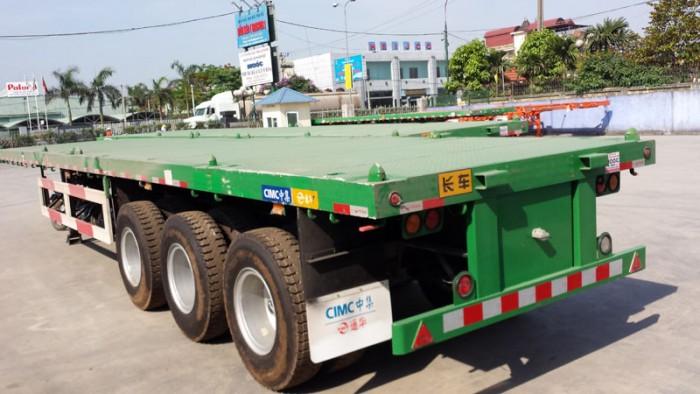 Mới về 6 chiếc Mooc sàn phằng CIMC 32,2 tấn ,3 trục ,Mới 100%,giá gốc,giao ngay.
