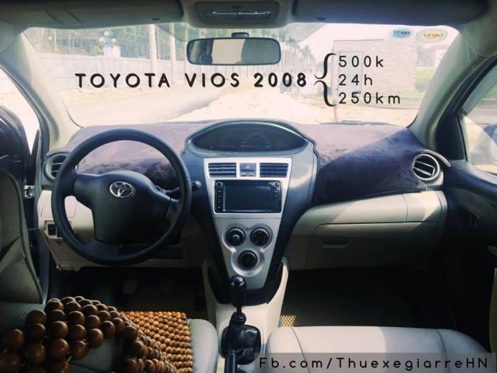 thuê xe tự lái 4 chỗ toyota vios số sàn 500k/ngày giá rẻ tại hà nội