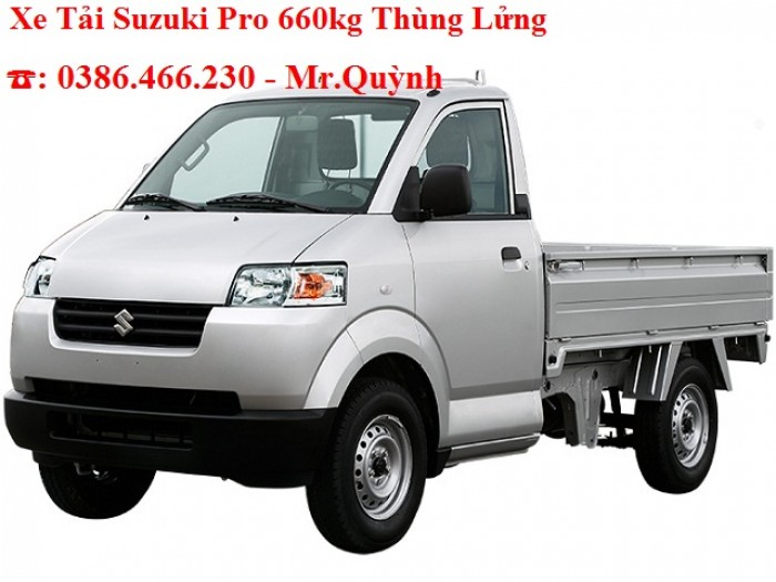 Xe Tải Suzuki Pro 740kg-660kg-640kg- Thùng Bạt-Thùng Lửng- Thùng Kín-Mới 100%