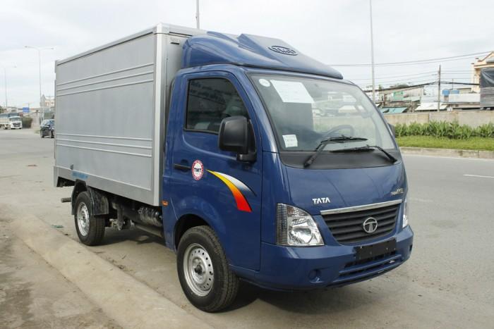 mua xe tải tata 1t25 thùng kín inox 10