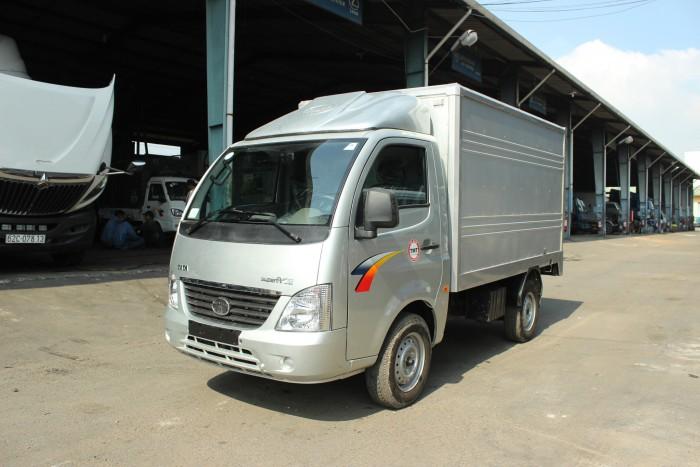 mua xe tải tata 1t25 thùng kín inox 4