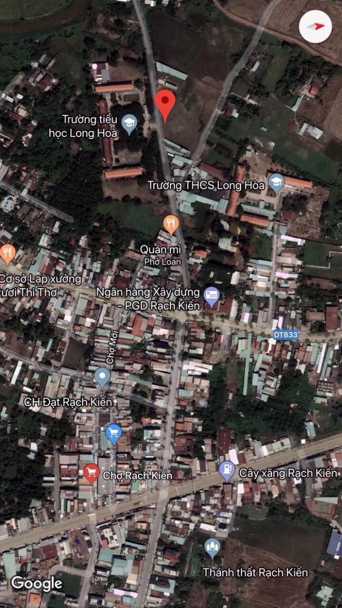Bán đất chính chủ gần chợ Rạch Kiến-Đối diện trường học Long Hòa