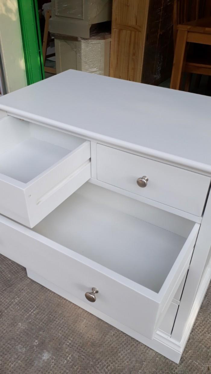 Tủ ngăn kéo gấp xếp đồ màu trắng