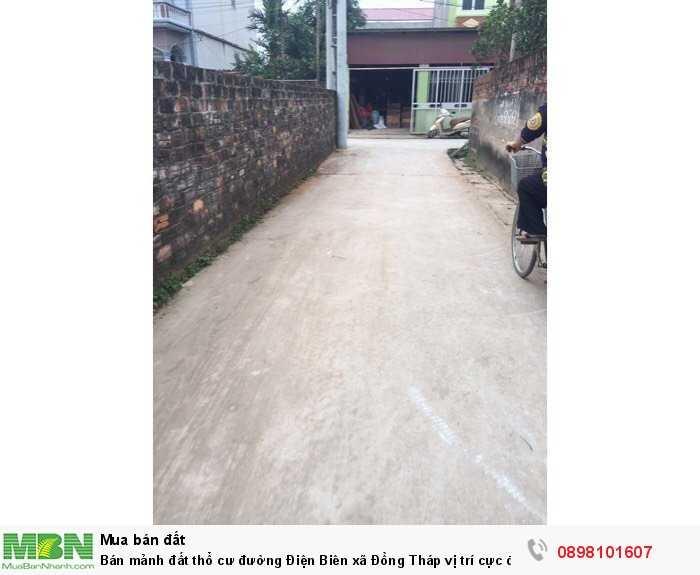 Bán mảnh đất thổ cư đường Điện Biên xã Đồng Tháp vị trí cực đẹp