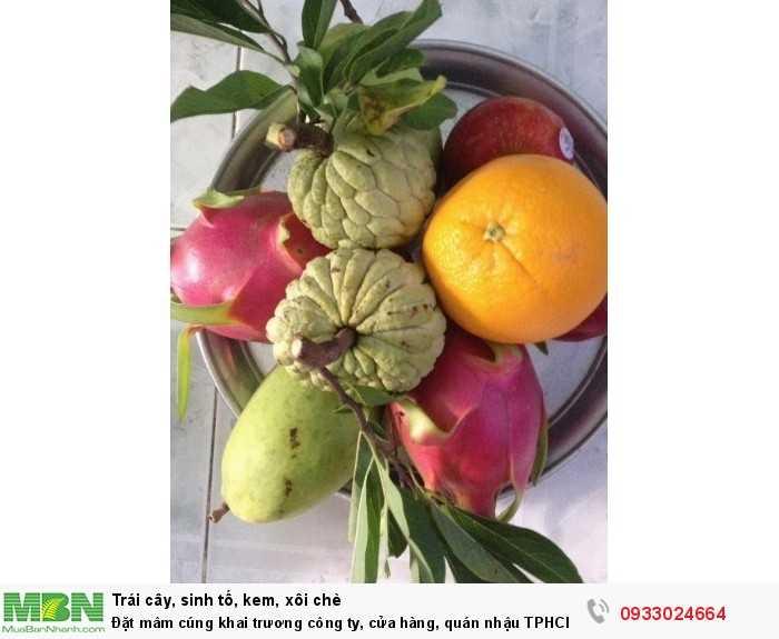 Mâm trái cây cúng khai trương