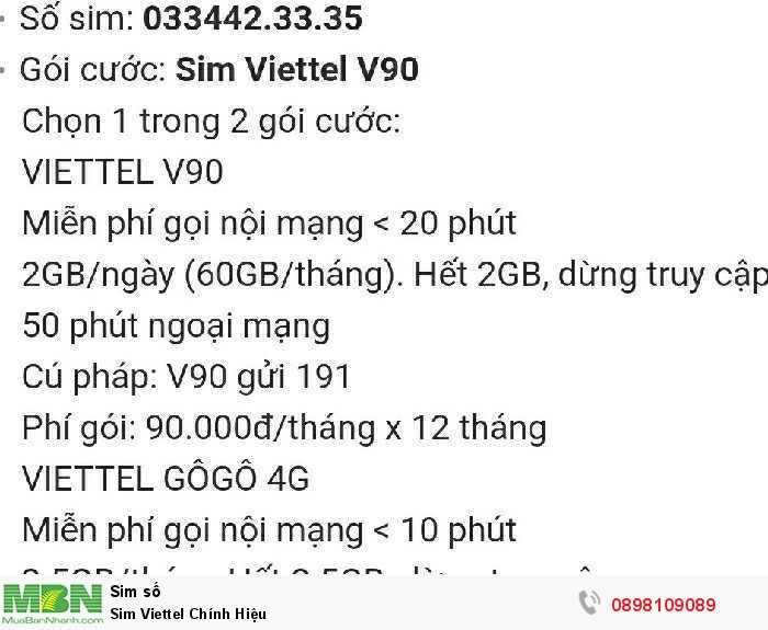 Sim Viettel Chính Hiệu3