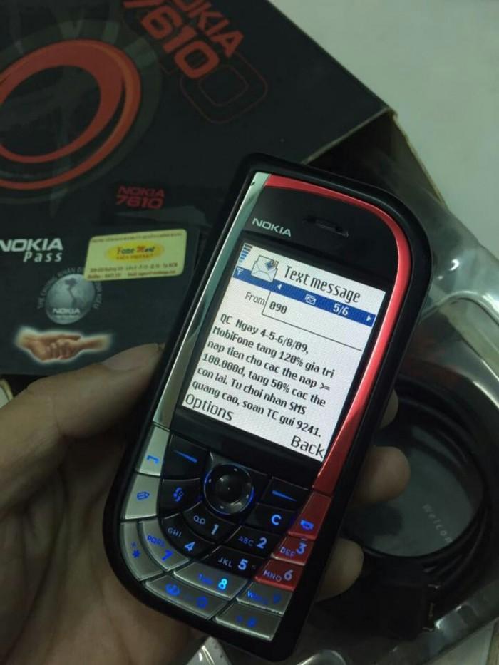 Nokia chiếc lá 7610 cổ chính hãng kèm xạc4