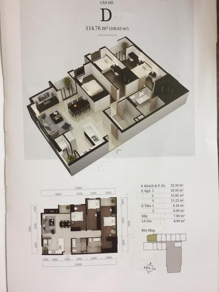 Bán căn hộ 3 phòng ngủ, ngay ngã 4 đất thánh, chiết khấu 8% - 10% cho khách hàng thanh toán ngay