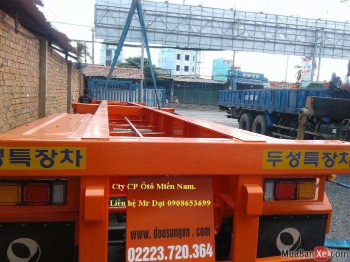 Bán rơ mooc Xương Doosung(chở container), 3 trục, 40 Feet,