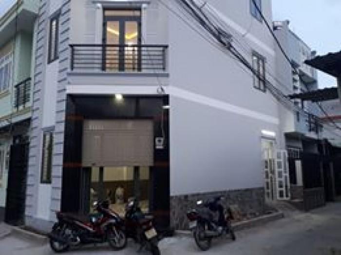 Nhà 1 trệt 2 lầu. Góc 2 Mặt tiền đường Làng Tăng Phú - Lê Văn Việt, Quận 9.