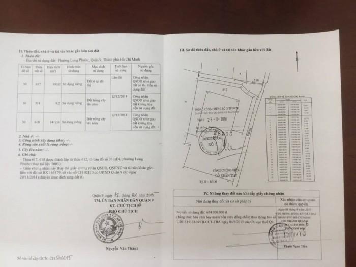 Bán lô đất ngay đầu hẻm 206 Long Thuận, phường Long Phước, q9