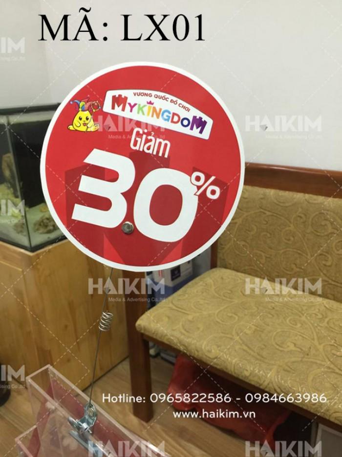 Thiết kế sản xuất vật tư quảng cáo, kẹp giấy, hanger siêu thị, wobbler tại Hà Nội