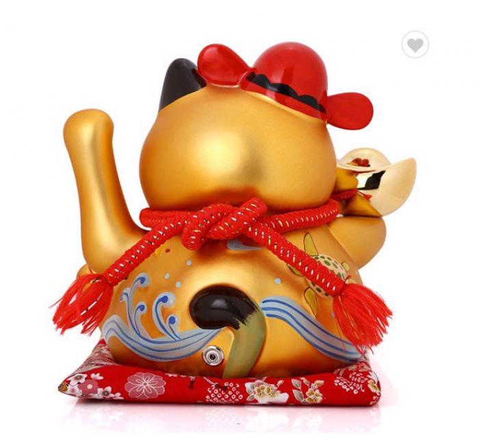 Mèo Thần Tài Phương Chiêu Tài Lộc Mã MTL10