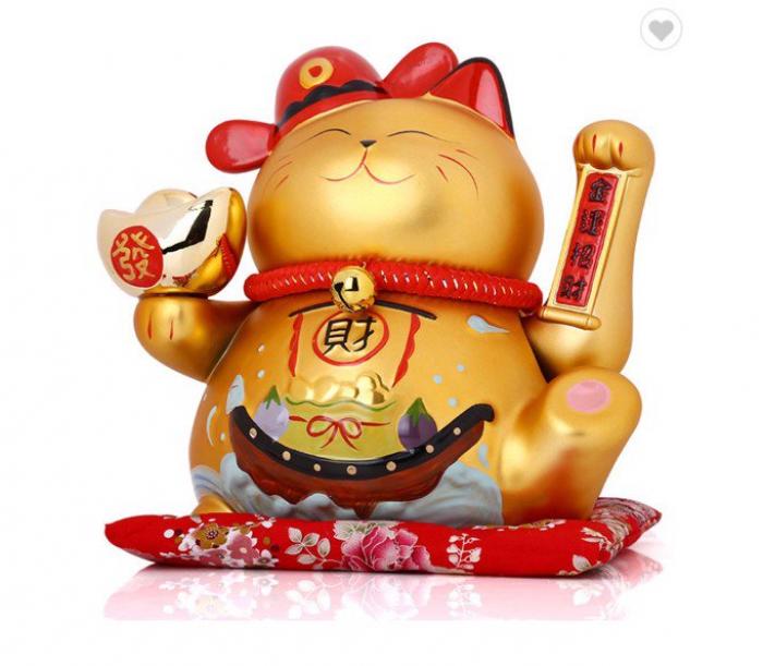 Mèo Thần Tài Phương Chiêu Tài Lộc Mã MTL11