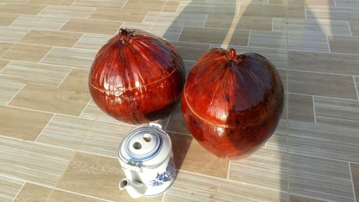 Bình giữ ấm trà bằng trái dừa0