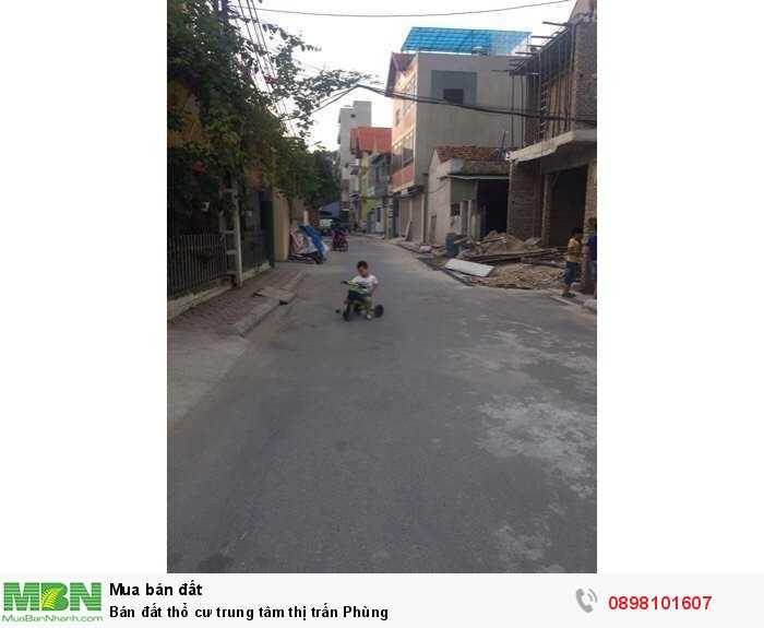 Bán đất thổ cư trung tâm thị trấn Phùng