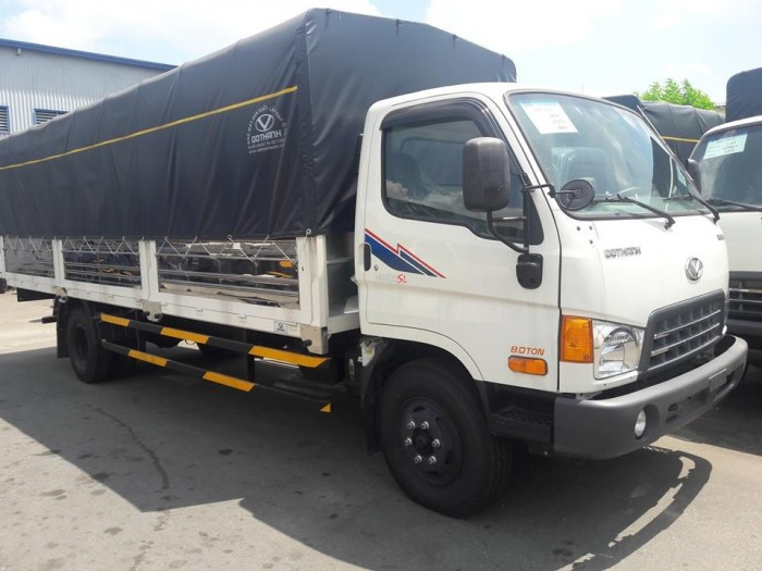 Giá xe tải Hyundai HD120SL 8 tấn thùng mui bạt dài 6m2 trả trước 100 triệu giao xe ngay