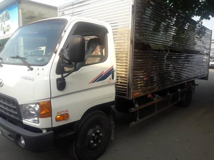 Giá xe tải Hyundai HD120SL 8 tấn thùng inox trả trước 100 triệu, giao xe ngay