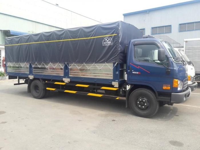 Mua xe tải Hyundai HD120SL 8 tấn thùng mui bạt, tặng phí trước bạ,trả trước chỉ 100 triệu giao luôn xe