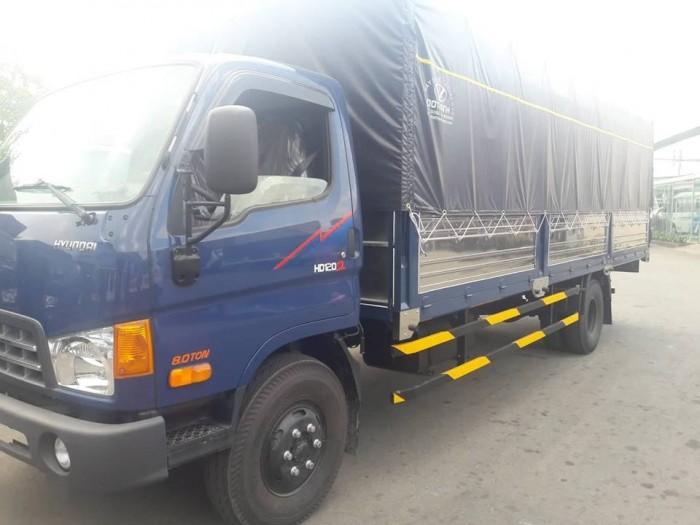 Khuyến mãi mua xe tải Hyundai HD120SL 8 tấn thùng mui bạt, tặng phí trước bạ,trả trước chỉ 100 triệu giao luôn xe - Gọi 0931777073 (Mr Hồng 24/24)