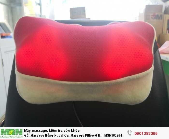 Gối Massage Hồng Ngoại  với thiết kế gọn nhẹ dễ sử dụng