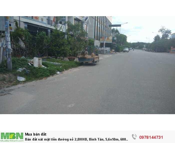 Bán đất sát mặt tiền đường số 2,BHHB, Bình Tân, 5,6x10m