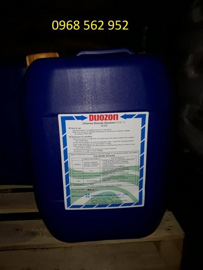 Clo Dioxit (Chlorine Dioxide) 5% - Khử trùng, diệt khuẩn, diệt vi sinh, vệ sinh công nghiệp, ao hồ nuôi trồng thủy sản3