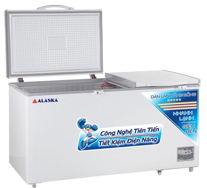 Tủ đông ALASKA HB-890C dàn lạnh ống đồng 2 nắp mở lên0