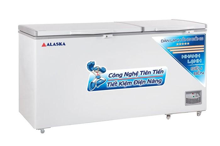 Tủ đông ALASKA HB-890C dàn lạnh ống đồng 2 nắp mở lên2