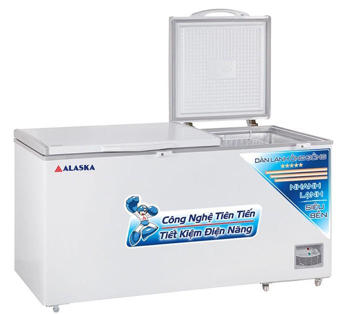 Tủ đông ALASKA HB-890C dàn lạnh ống đồng 2 nắp mở lên1