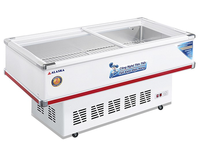 Tủ đông ALASKA SD-4SC 400L mặt kính phẳng trưng bày bảo quản thực phẩm0