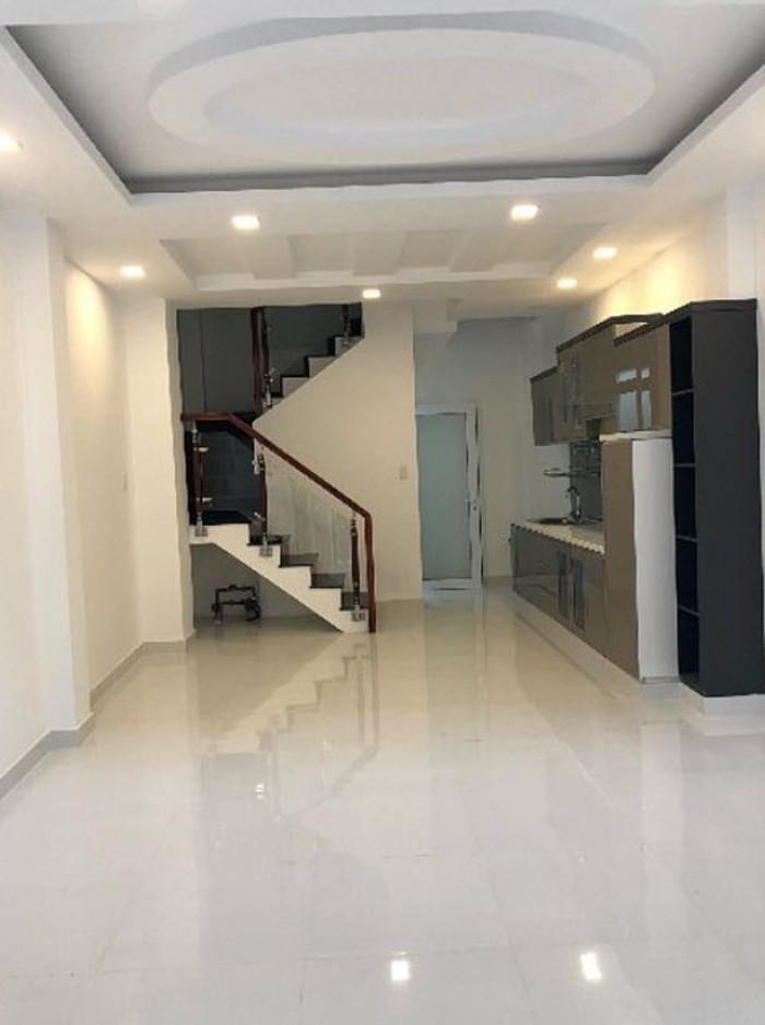 Nhà hẻm xe hơi 8m Nguyễn Xí, 5x12m, 1 trệt, 3 lầu