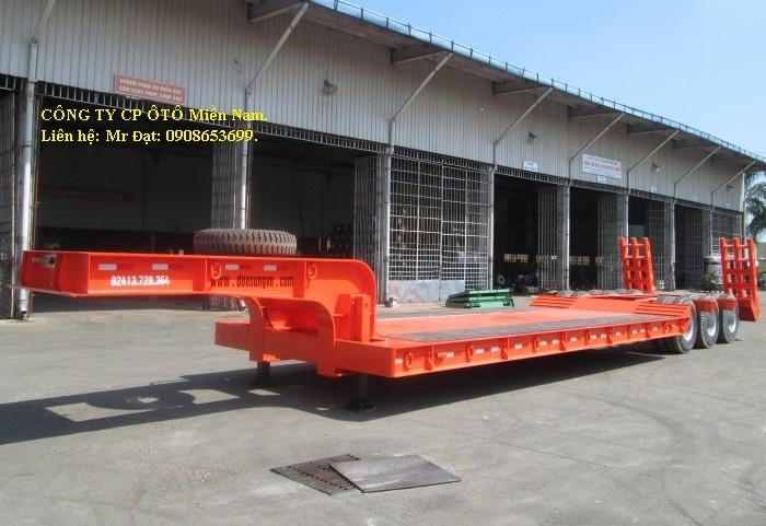 Mooc Sàn võng 7m,3 trục, Phooc Lùn 40 tấn,15m,(chở xe, máy chuyên dùng),giá rẻ.