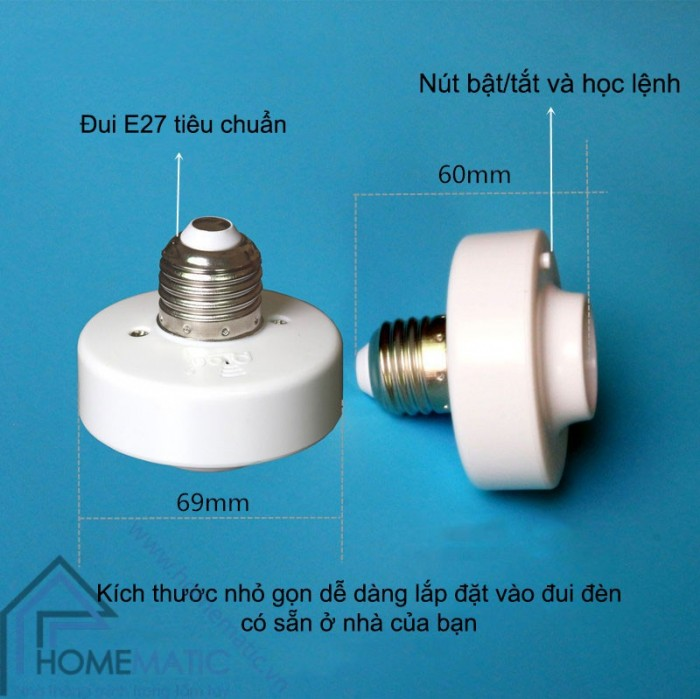 Đui đèn thông minh điều khiển từ xa học lệnh RF PION LHR3151