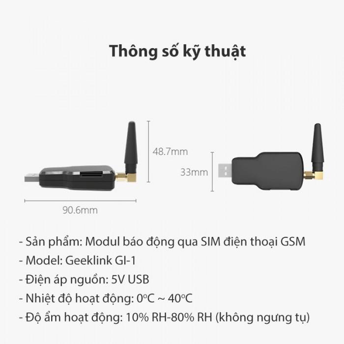 Module báo động qua sim điện thoại GSM Geeklink GI-10