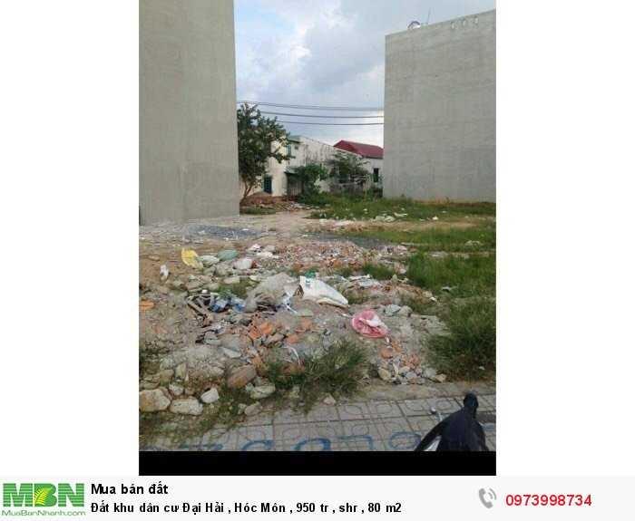 Đất khu dân cư Đại Hải , Hóc Môn , shr , 80 m2