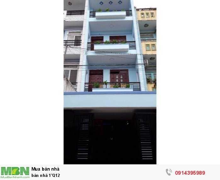 bán nhà 1'Q12 hẻm 113 Lâm Thị Hố
