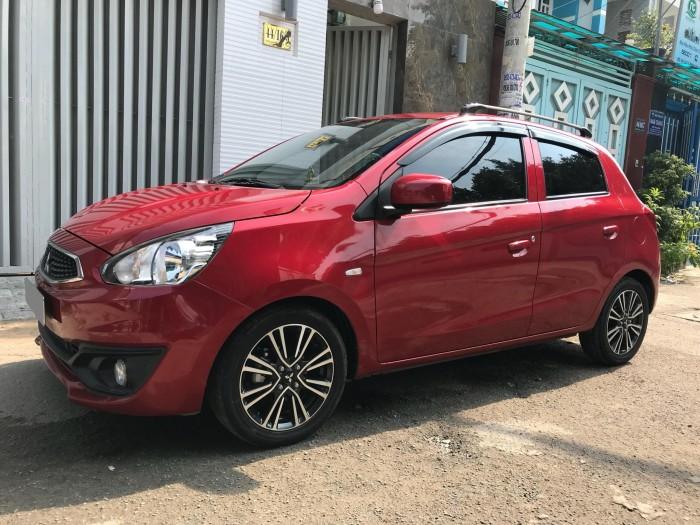 Cần bán Mitsubishi Mirage số sàn 2018 màu đỏ nhập Thái Lan.