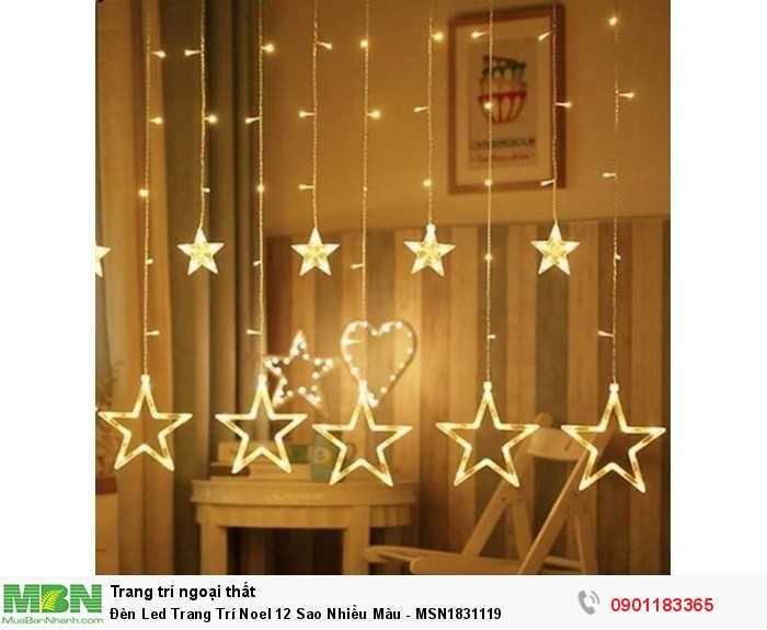 Bộ đèn led khi giăng sẽ được 12 sợi buông so le nhau và được làm bởi 126 đèn led gồm có 6 ngôi sao lớn, 6 ngôi sao nhỏ và các đèn led.2