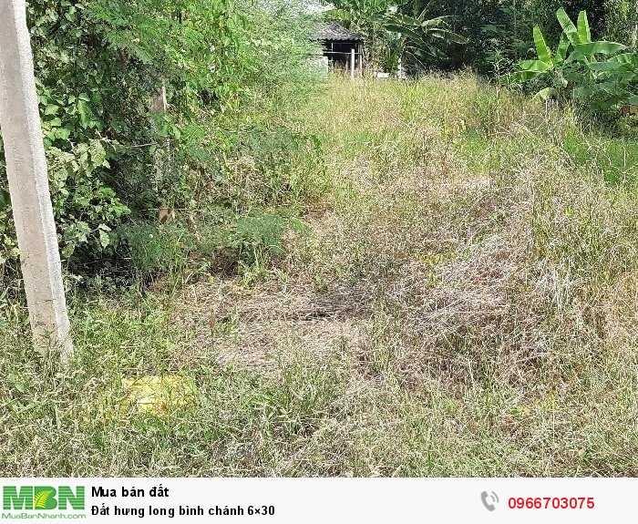 Đất hưng long bình chánh 6×30