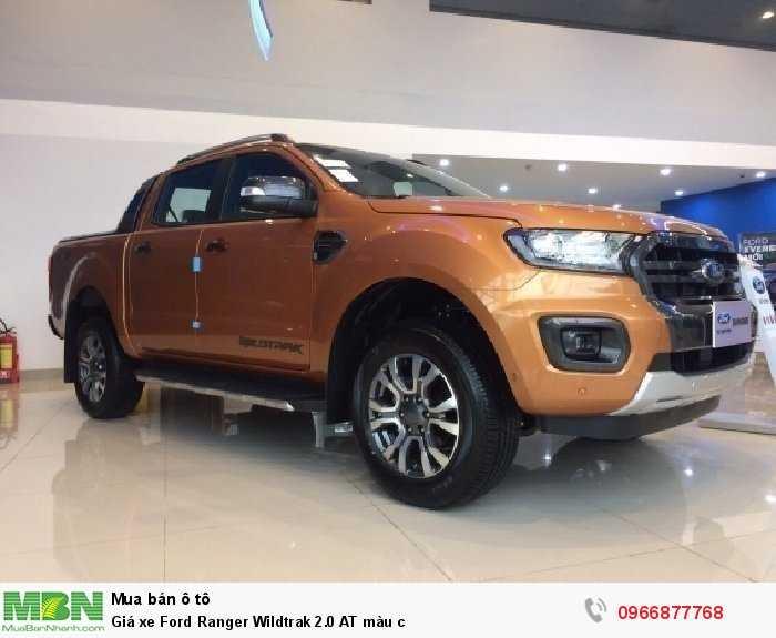 Giá xe Ford Ranger Wildtrak 2.0 AT màu cam, trả trước 200triệu có xe giao ngay tại Ford Giá Định