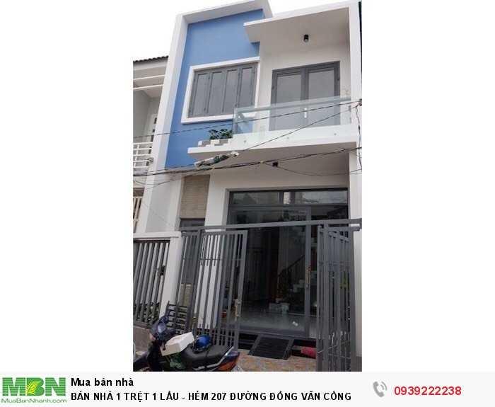 Bán Nhà 1 Trệt 1 Lầu - Hẻm 207 Đường Đồng Văn Cống