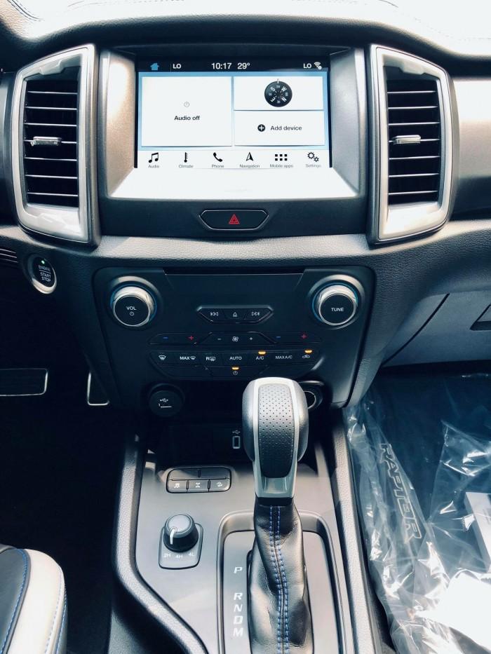 [9] Ford Ranger Raptor 2019, màu xanh dương, trả trước 300 triệu có xe giao ngay tại Gia Định Ford