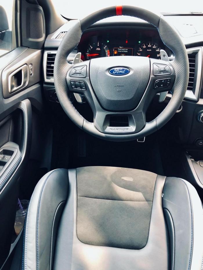 [7] Ford Ranger Raptor 2019, màu xanh dương, trả trước 300 triệu có xe giao ngay tại Gia Định Ford