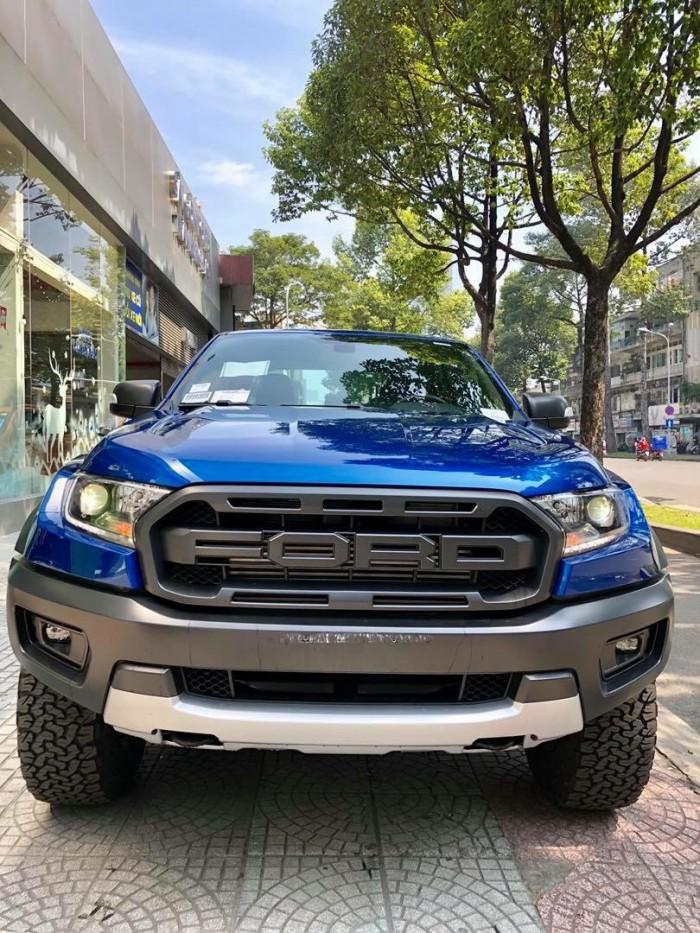 [6] Ford Ranger Raptor 2019, màu xanh dương, trả trước 300 triệu có xe giao ngay tại Gia Định Ford