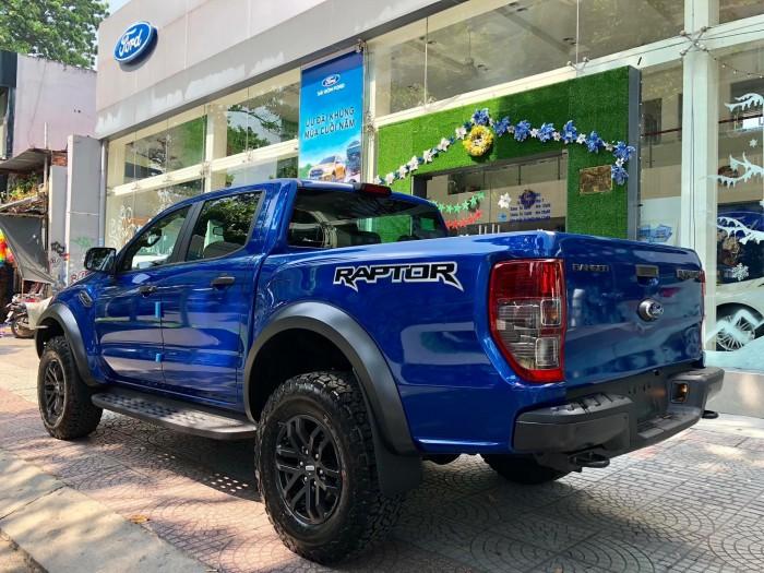 [11] Ford Ranger Raptor 2019, màu xanh dương, trả trước 300 triệu có xe giao ngay tại Gia Định Ford