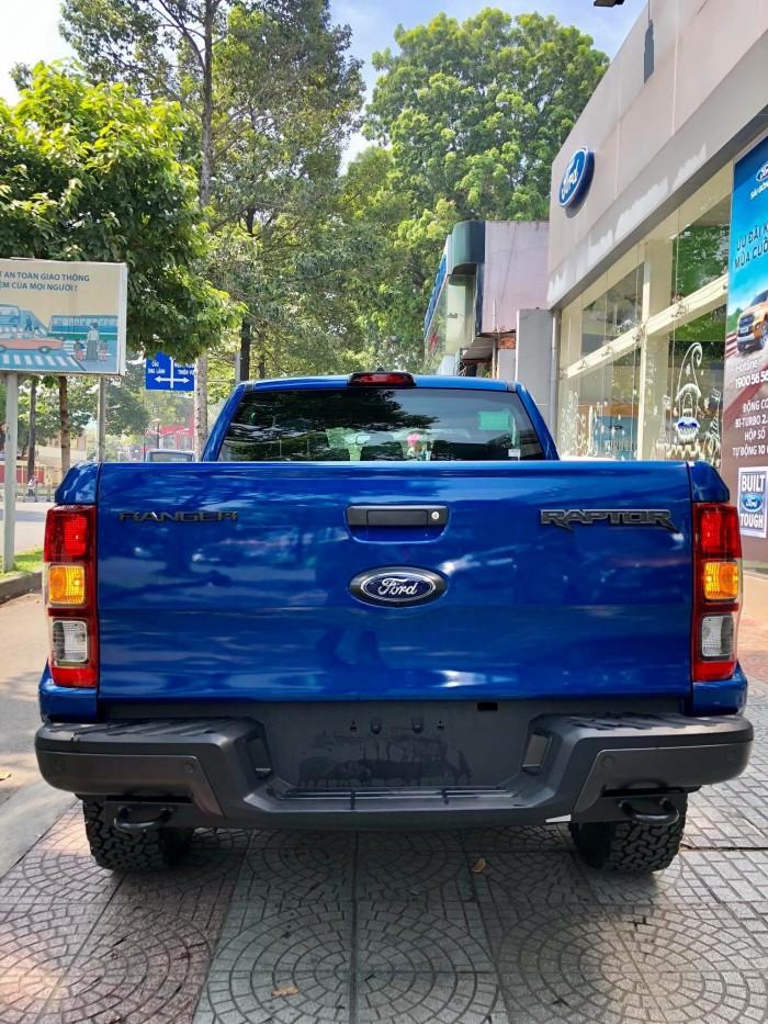 [2] Ford Ranger Raptor 2019, màu xanh dương, trả trước 300 triệu có xe giao ngay tại Gia Định Ford