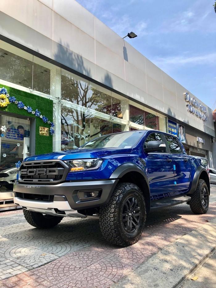 [3] Ford Ranger Raptor 2019, màu xanh dương, trả trước 300 triệu có xe giao ngay tại Gia Định Ford