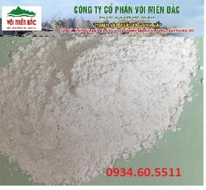 Vôi Cao bột, củ sử dụng trong ngành sản xuất mía đường0